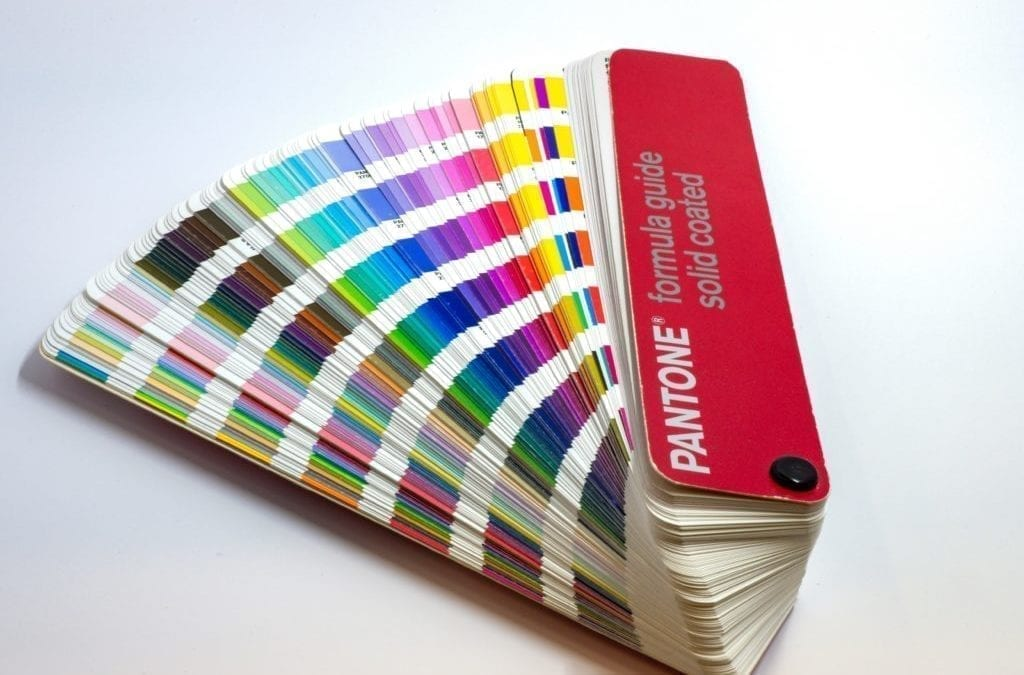 Photo of pantone colour swatches
