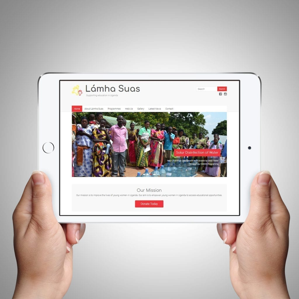 Lamha Suas Website Design May 2018