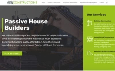 Brochure Website Design for Construction Company