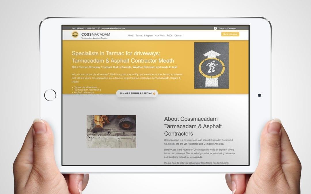 Cossmacadam Website Design | Web Design Clients | DesignBurst