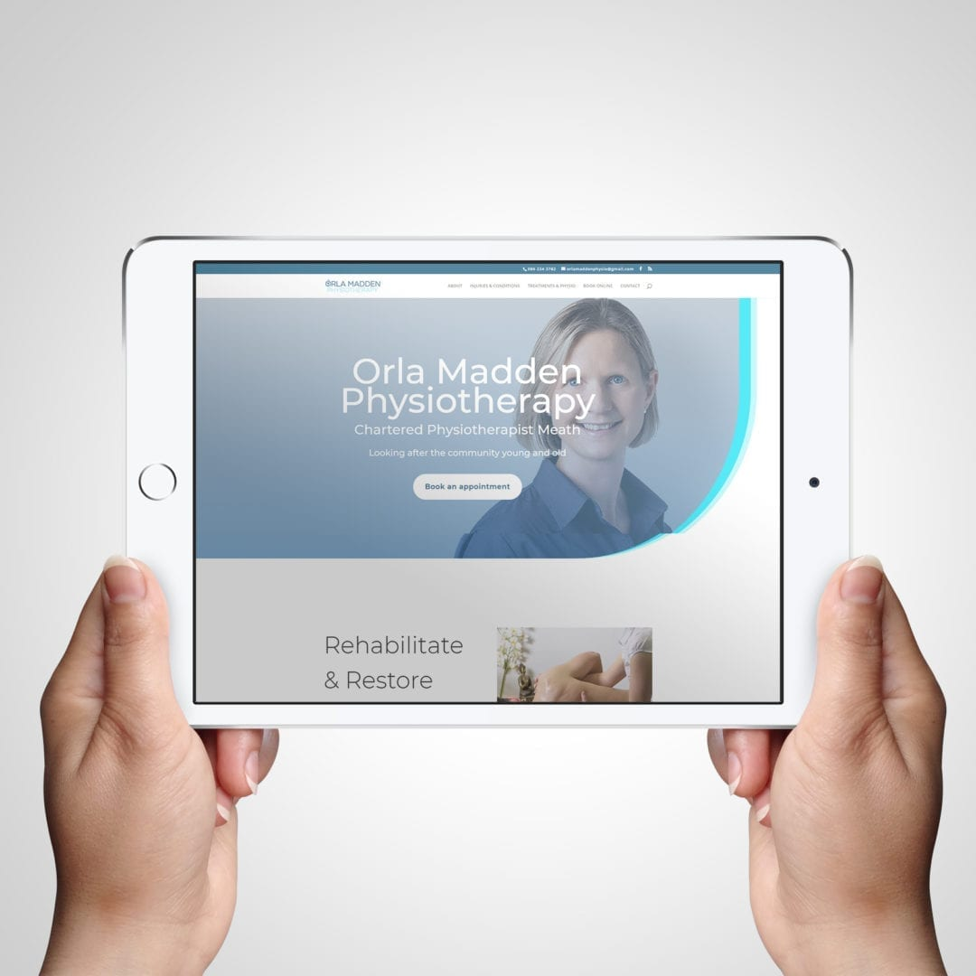 Orla Madden Chartered Physio & Sports Injury Clinic Website for local business in Meath - DesignBurst