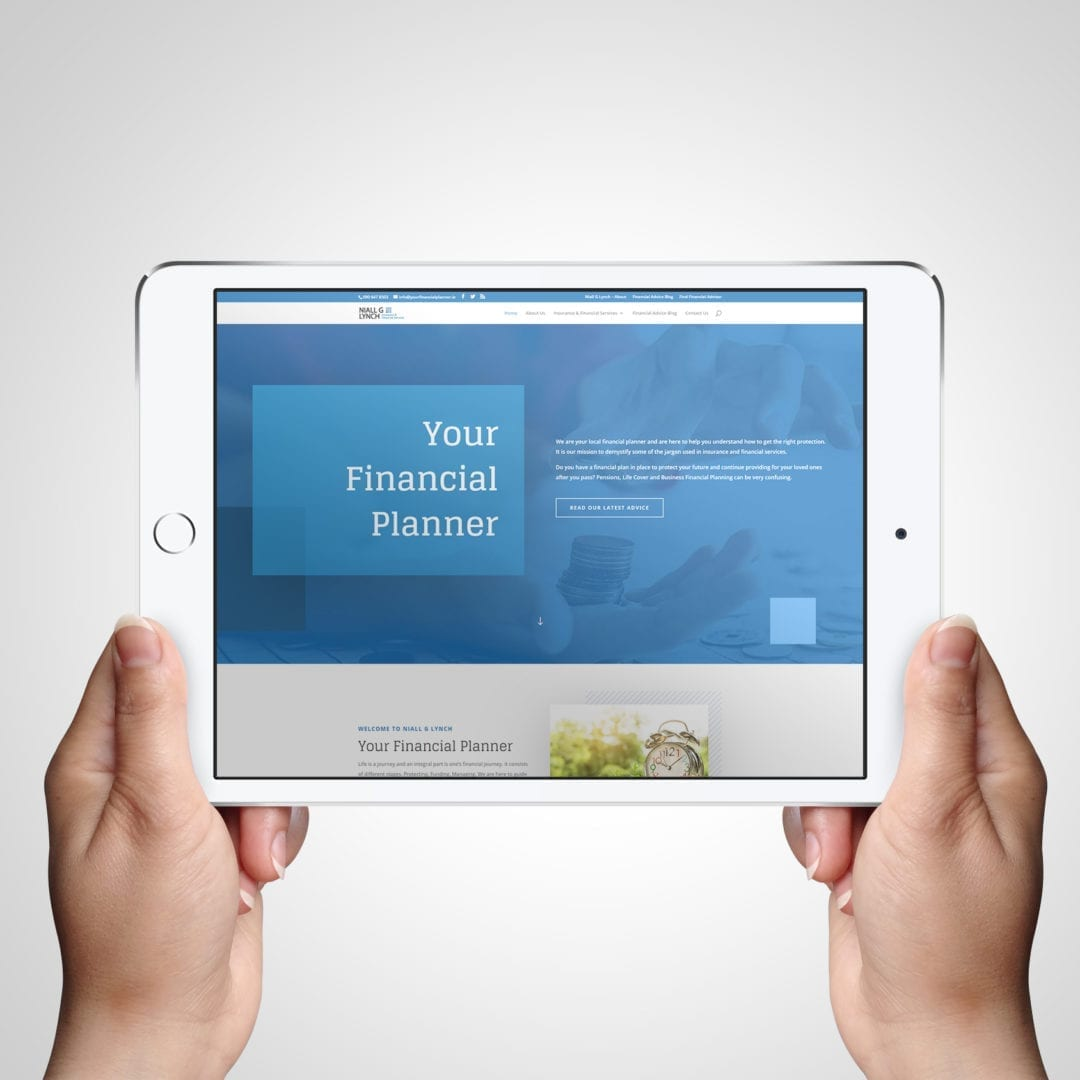Your Financial Planner Financial Security and Protection Advice Website for local business in Meath - DesignBurst