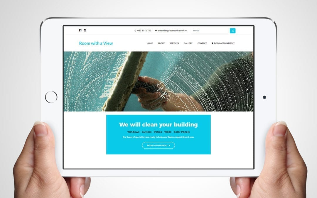 Room with a View Window Cleaner Website Design | DesignBurst