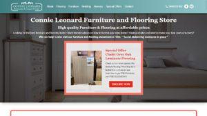 Connie Leonard Furniture Website Design by DesignBurst 960x540