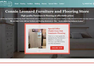 Website Design for Connie Leonards Furniture Store