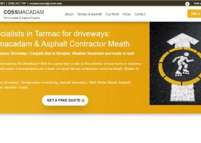 Website Design for Cossmacadam Tarmacadam driveway services