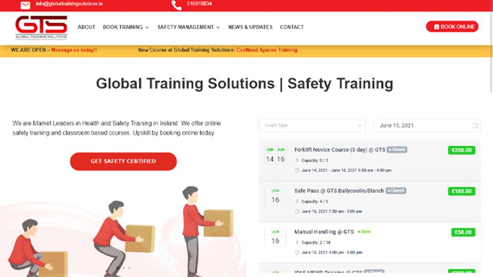 Website Design for GTS Safety Training Provider