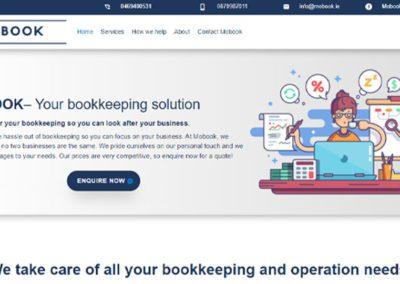 Website Design for Mobook Bookkeeping Services Business