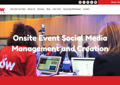 Website Design for NowMedia LIVE Content Creator Services