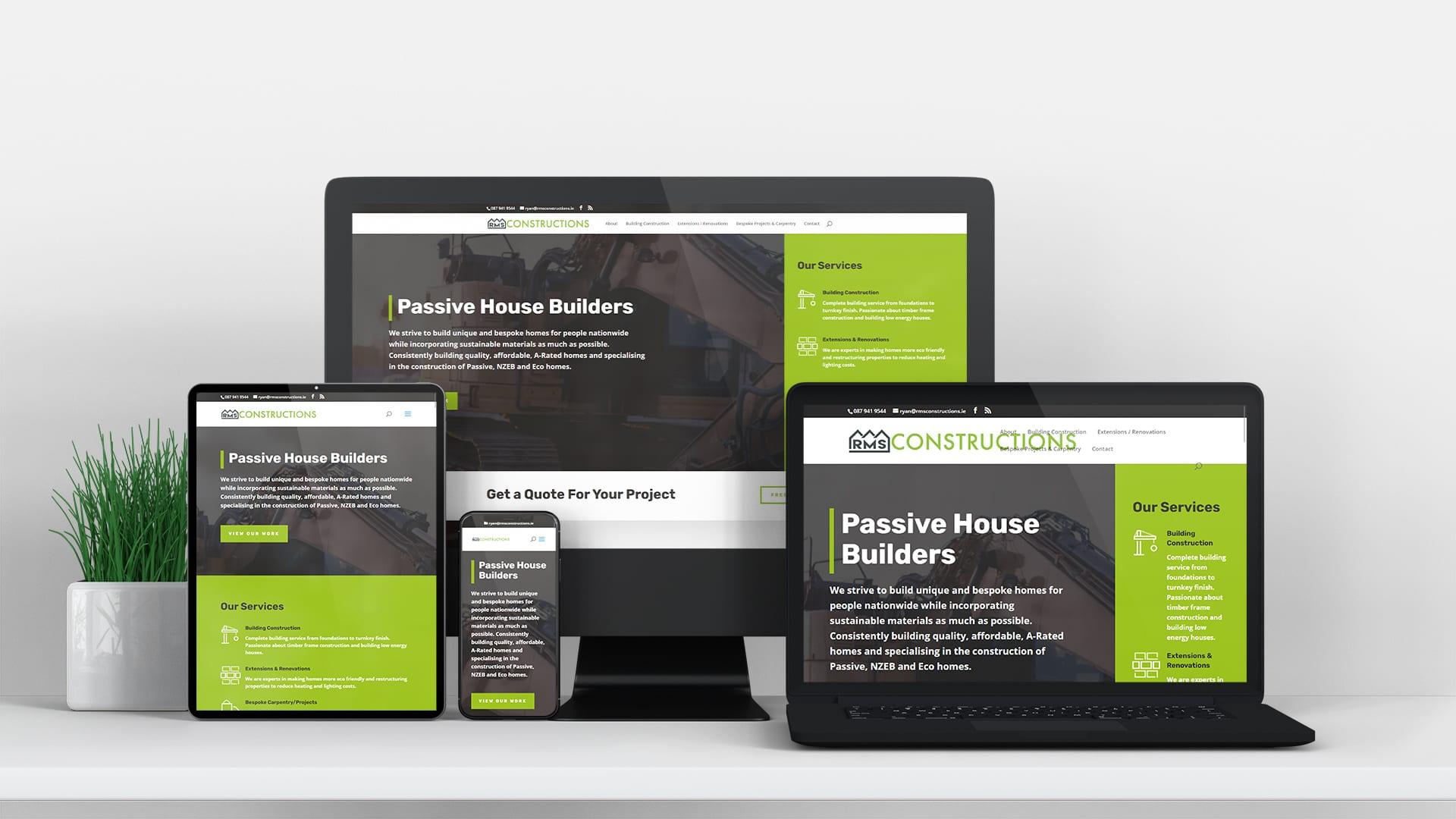 RMS construction meath design burst website design