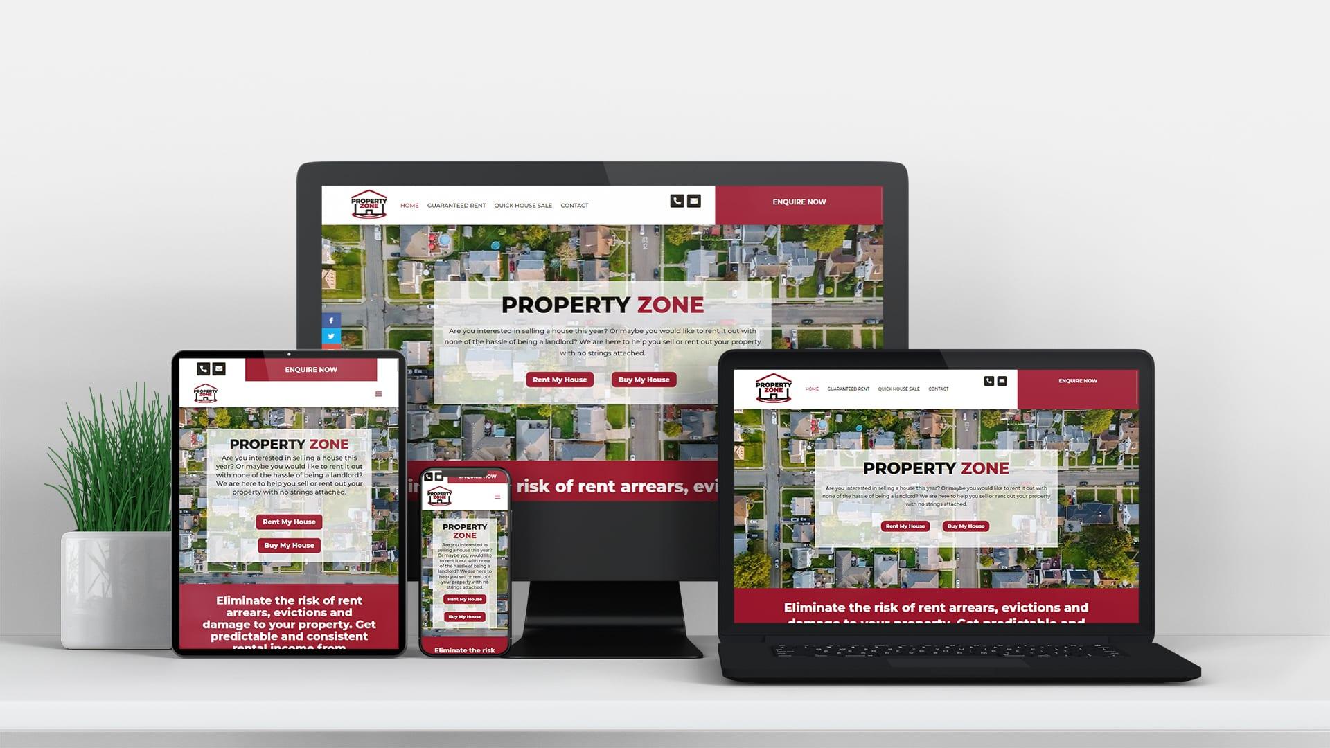 property zone design burst website design