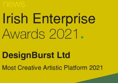 Irish Enterprise Awards Winners Logo DesignBurst Ltd Website Design 2021