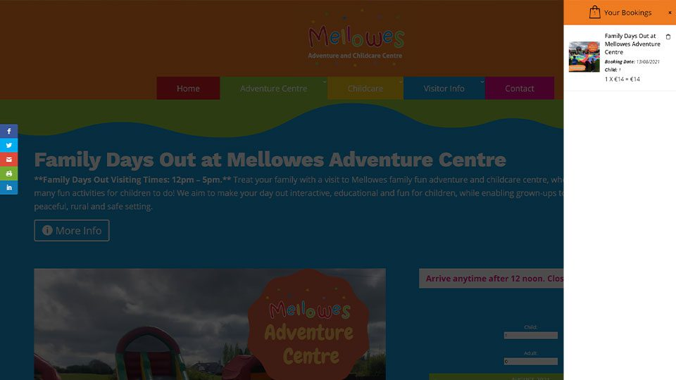mellowes Booking website design featured